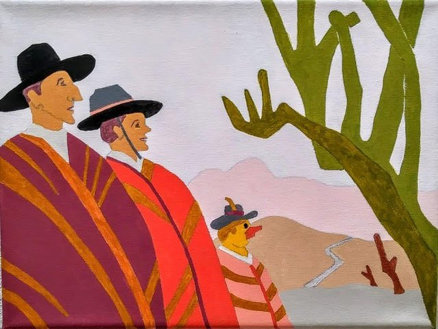 Three Amigos (after Cabaleros by Ramon De Zubaurre)